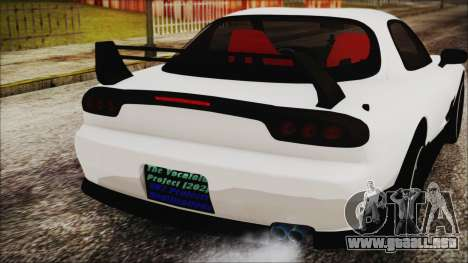 Mazda RX-7 Enhanced Version para GTA San Andreas vista hacia atrás