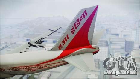 Boeing 747-237Bs Air India Rajendra Chola para GTA San Andreas vista posterior izquierda