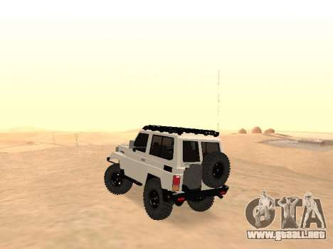 Toyota Machito Off-Road (IVF) 2009 para GTA San Andreas vista posterior izquierda