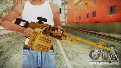 GTA 5 MG from Lowrider DLC para GTA San Andreas tercera pantalla