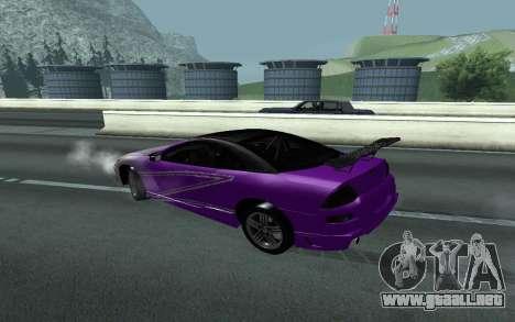 Mitsubishi Eclipse GTS Tunable para GTA San Andreas vista hacia atrás