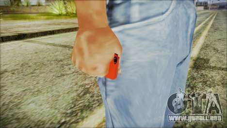 iPhone 5 Red para GTA San Andreas tercera pantalla