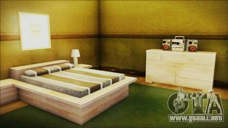 CJ House New Interior para GTA San Andreas sucesivamente de pantalla