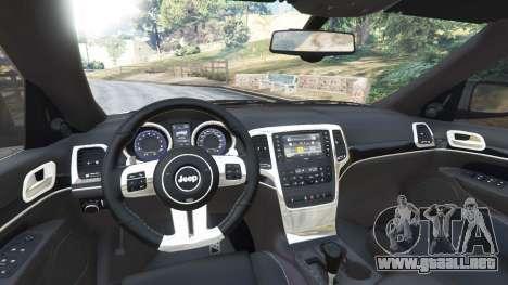 GTA 5 Jeep Grand Cherokee SRT8 2013 vista lateral trasera derecha