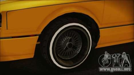 GTA 5 Albany Primo Custom Bobble Version para GTA San Andreas vista posterior izquierda