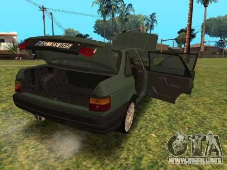 Volkswagen Passat B3 para GTA San Andreas vista hacia atrás