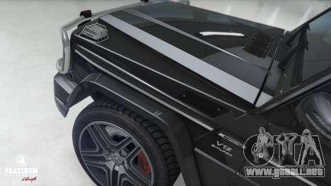 GTA 5 Mercedes-Benz G63 AMG v1 delantero derecho vista lateral