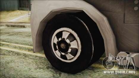 Hot Wheels Funny Money Truck para GTA San Andreas vista posterior izquierda