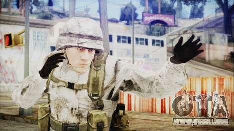 World In Conflict US Marine Winter para GTA San Andreas