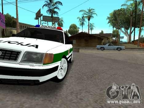 Audi 100 C4 1995 Police para la vista superior GTA San Andreas