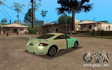 Audi TT 2004 Tunable para la vista superior GTA San Andreas