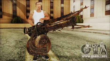 Fallout 4 Shredding Minigun para GTA San Andreas tercera pantalla