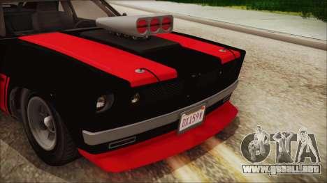 GTA 5 Declasse Tampa IVF para GTA San Andreas vista hacia atrás