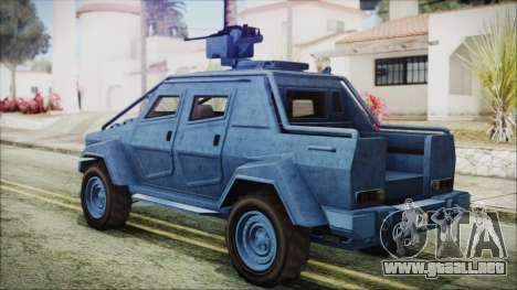 GTA 5 HVY Insurgent Pick-Up IVF para GTA San Andreas left