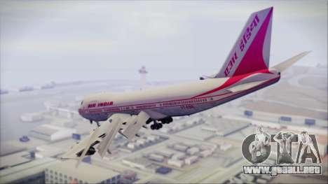 Boeing 747-237Bs Air India Rajendra Chola para GTA San Andreas left
