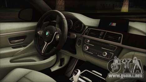 BMW M4 Coupe para la visión correcta GTA San Andreas