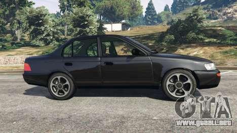 GTA 5 Toyota Corolla 1.6 XEI [black edition] v1.02 vista lateral izquierda