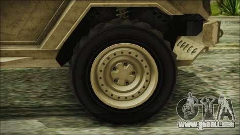 GTA 5 HVY Insurgent Van para GTA San Andreas vista posterior izquierda