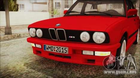 BMW M5 E28 1988 para visión interna GTA San Andreas