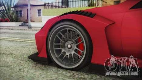 Benefactor Feltzer Super Sport para GTA San Andreas vista posterior izquierda