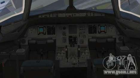 Airbus A320-200 Etihad Airways Abu Dhabi Grand para la visión correcta GTA San Andreas