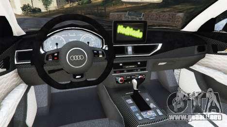 GTA 5 Audi RS7 2016 vista lateral derecha