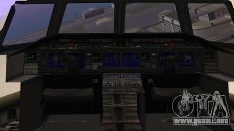 GTA 5 Cargo Plane para GTA San Andreas vista hacia atrás