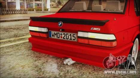 BMW M5 E28 1988 para la vista superior GTA San Andreas