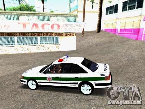 Audi 100 C4 1995 Police para GTA San Andreas vista posterior izquierda