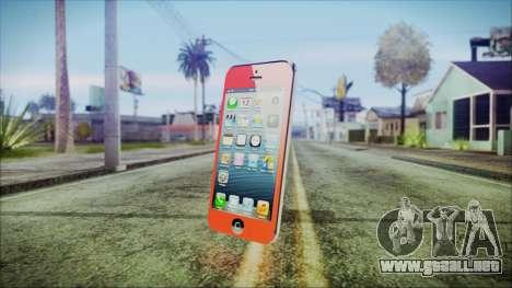 iPhone 5 Red para GTA San Andreas