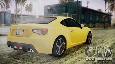 Toyota GT86 (ZN6) 2012 HD Algeria PJ para GTA San Andreas left