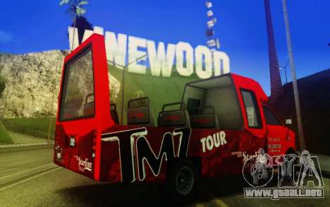 TMZ Tourbus para GTA San Andreas vista posterior izquierda