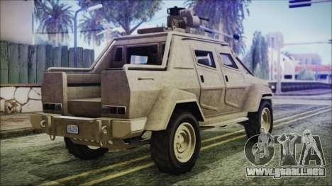 GTA 5 HVY Insurgent Pick-Up para GTA San Andreas left
