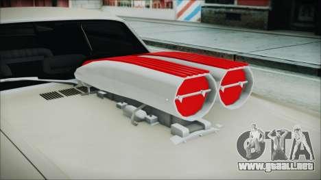 Ford Mustang Fastback 1966 Chrome Edition para GTA San Andreas vista hacia atrás