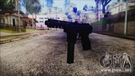 TEC-9 Tiger Stripe para GTA San Andreas