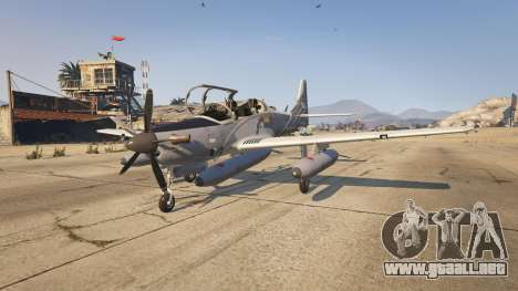 GTA 5 Embraer A-29B Super Tucano House segunda captura de pantalla