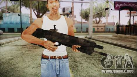 Cyberpunk 2077 Rifle Camo para GTA San Andreas tercera pantalla