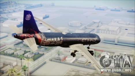 Airbus A320-200 Etihad Airways Abu Dhabi Grand para GTA San Andreas left