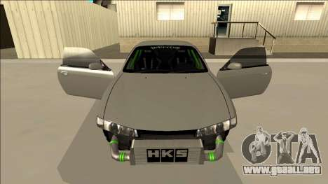Nissan Silvia S14 Drift Monster Energy para la vista superior GTA San Andreas