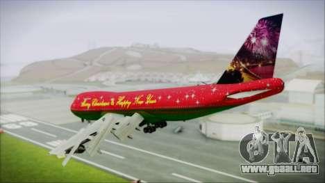 Boeing 747-100 Merry Christmas and Happy NY para GTA San Andreas left
