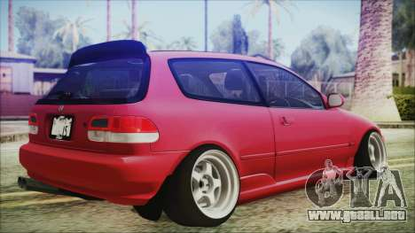 Honda Civic EG6 Hellaflush para GTA San Andreas left