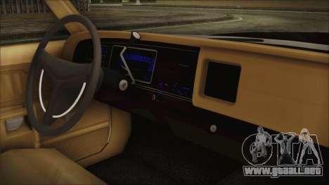 Dodge Monaco 1974 SFPD para la visión correcta GTA San Andreas