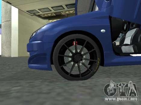 Pegeout 206 PickUP para GTA San Andreas vista posterior izquierda