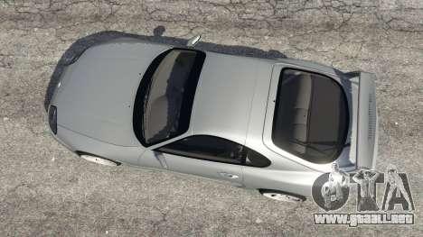 GTA 5 Toyota Supra JZA80 v1.1 vista trasera