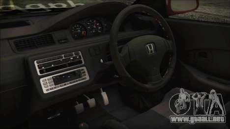 Honda Civic EG6 Hellaflush para la visión correcta GTA San Andreas
