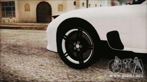 Mazda RX-7 Enhanced Version para GTA San Andreas vista posterior izquierda