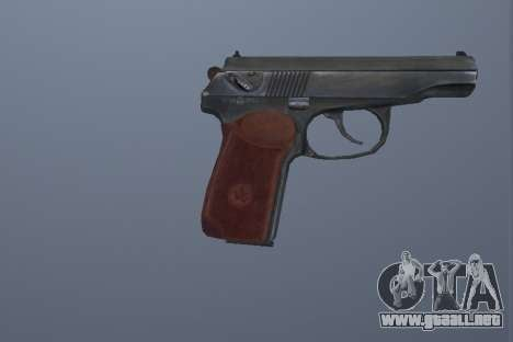 La Pistola Makarov para GTA San Andreas segunda pantalla