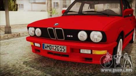 BMW M5 E28 1988 para GTA San Andreas vista hacia atrás