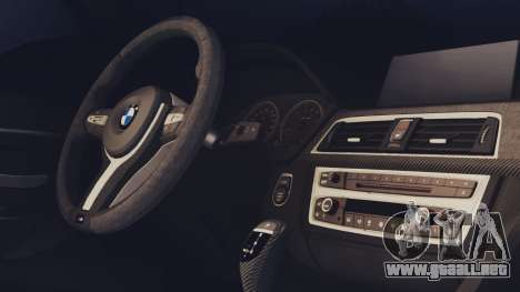 BMW M3 F30 SEDAN para GTA San Andreas vista posterior izquierda