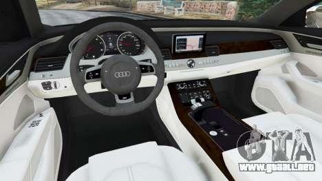 GTA 5 Audi S8 Quattro 2013 vista lateral trasera derecha